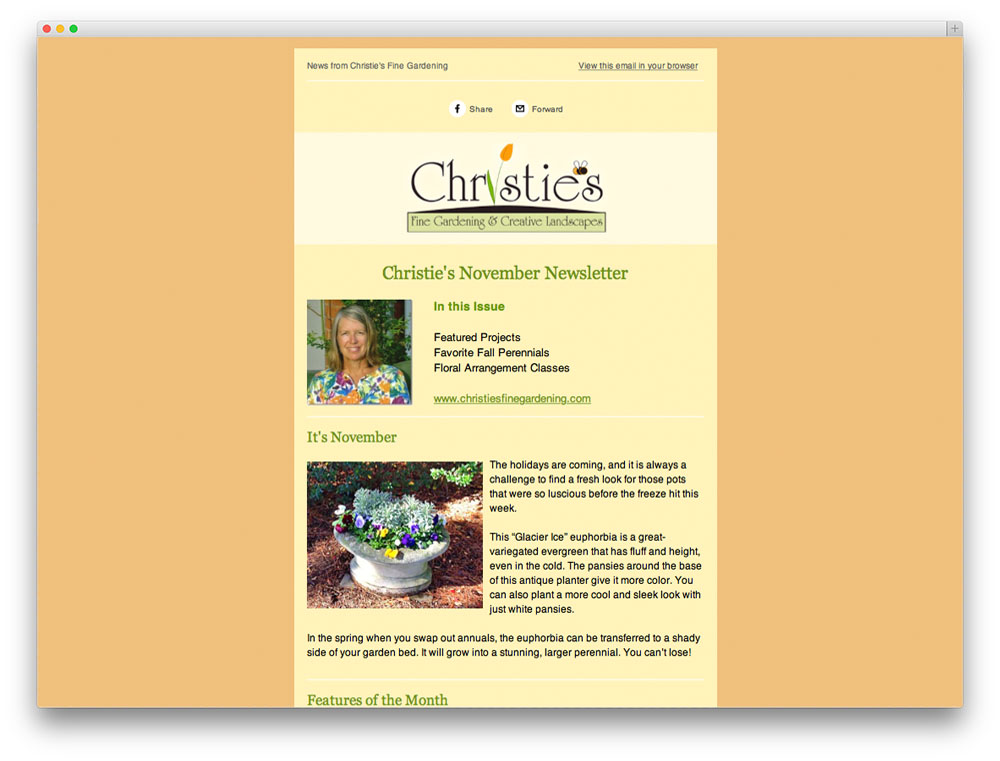 christies newsletter